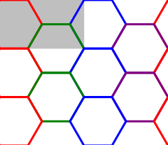 A tiled set of 4x3 hexagons, arranged on a automatically sized canvas.