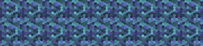 A wrapped tiling of randomly colored hexagons.